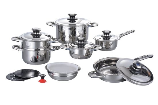 12PCS Stainless Steel Cooking Sets S108