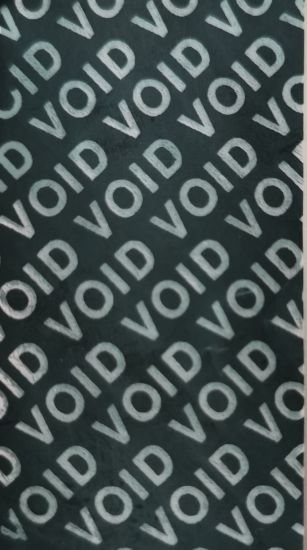Custom Electronic Warranty Void Seal Non Transfer No Residue Adhesive Sticker