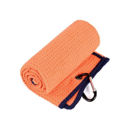 China Top Brand Disposable Mini Waffle Towelie Golf Towels with Embroidery