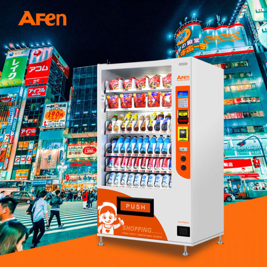 Afen Classic Combo Drink Snack Refrigerator Vending Machine for Sale