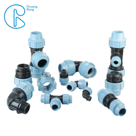 PP Compression Fittings 90 Degree Tee for HDPE Irrigation Pipe pictures & photos
