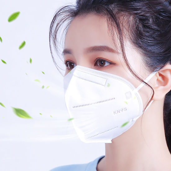 High Quality Kn95 Wholesale White Non-Woven Face Mask 4 Ply Earloop Face Mask