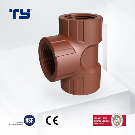 Plastic/Pph Thread Pipe and Fittings Iram 13478 Standard Female Tee