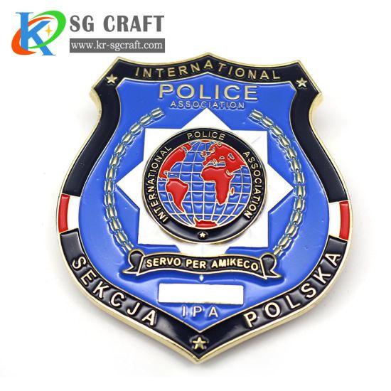 Factory Custom Zinc Alloy Gold Plating Personalized 3D Emblem Supplies Award Army Us Police Uniform Lapel Pins School Sport Souvenir Metal Crafts Badge