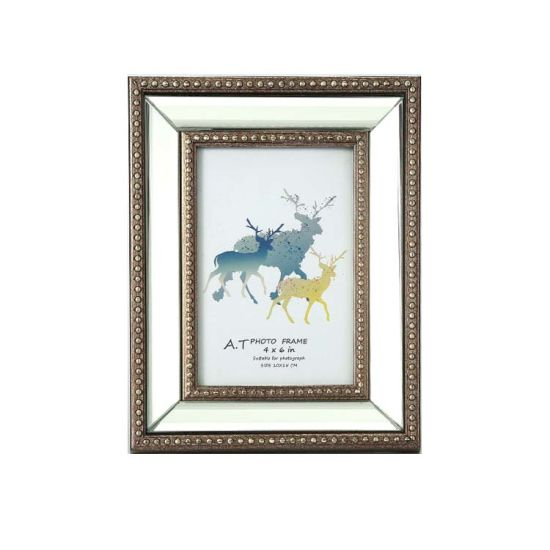 Beveled Mirror Picture Frame Classic Mirrored Photo Frame Home Decor