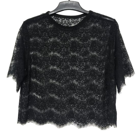 Sexy Ladies Black Color Lace Blouse and Shirt for Daily