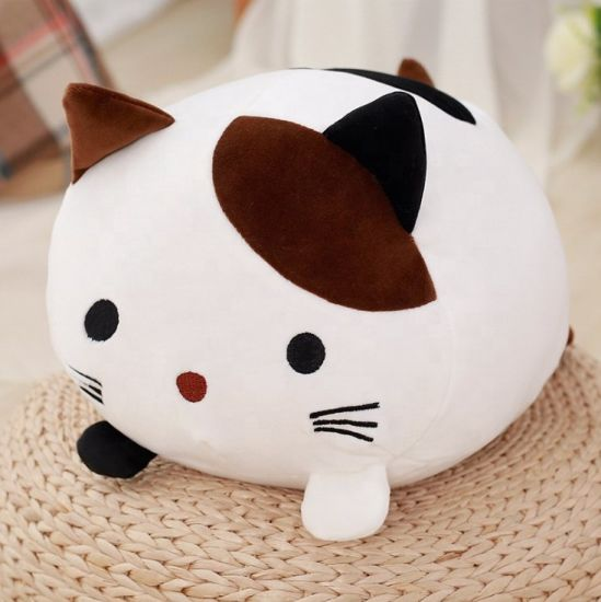 Wholesale Cute Cuddly Cat Pillow Plush Soft Stuffed Toys Animal