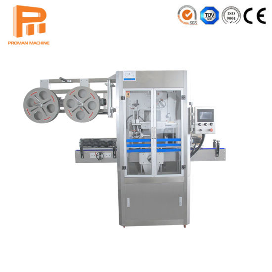 Automatic Bottle Shrink Sleeve Labeling Machine with PE Film