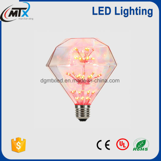 Free sample Diamond shape LED firework starry star lamp bulb for sale pictures & photos