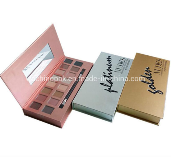 Custom Printed Paper Cardboard Packaging Empty Palettes/Eyeshadow Containers Makeup Boxes Wholesale