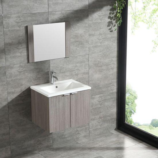 China Wall Mount 24 Bathroom Vanity Wood Cabinet W Ceramic Basin