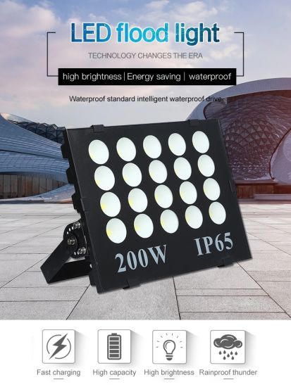 China Factory High Lumen Outdoor Lighting Epistar Chip Module Type 50W 100W 150W 200W 300W COB LED Flood Lights pictures & photos