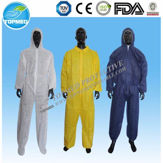 2a23eedd1f4 China Nonwoven Disposable Protective Cloth Coverall - China ...
