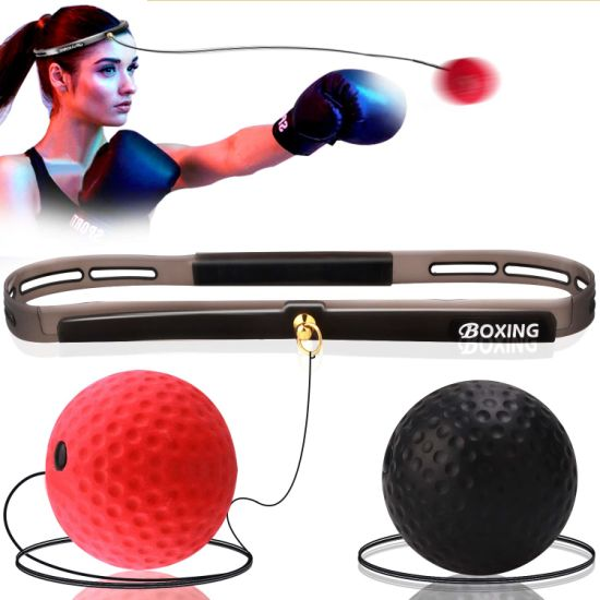 US Boxing Punch Exercise Fight Ball With Head Band For Reflex Speed Training Box
