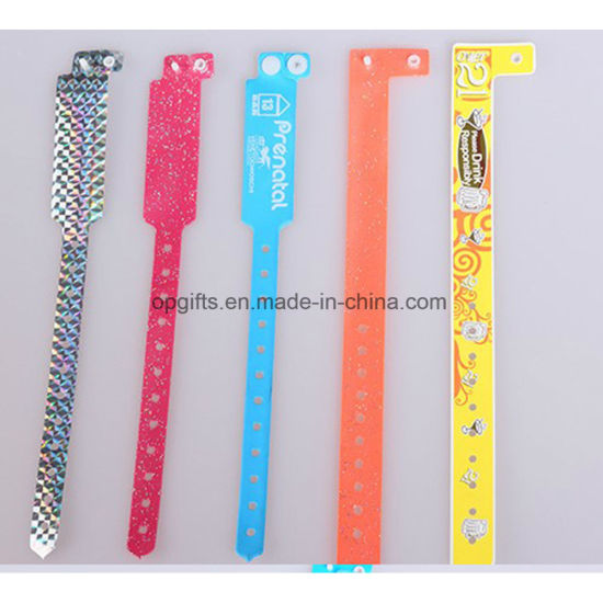 Promotion One Time Use RFID Disposable Wrist Band Bracelet pictures & photos