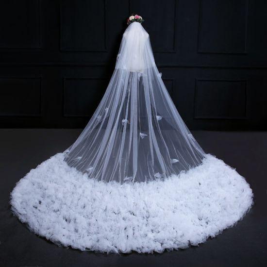 Luxury Long Tulle Bridal Wedding Veil Ts5510