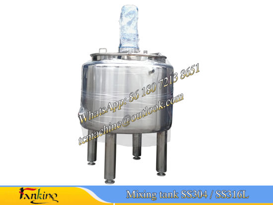 Half-Coil Heating Mixing Tank Coil Jacketed Cooling Mixing Tank pictures & photos