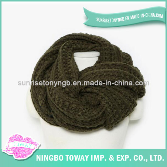 Acrylic Long Fashion Knitted Wholesale Cotton Polyester Scarf