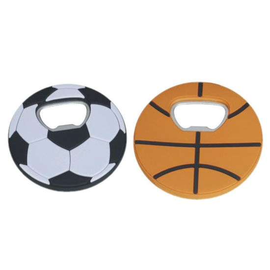 Basketball and Football Shape PVC Soft Plastic Bottle Opener pictures & photos