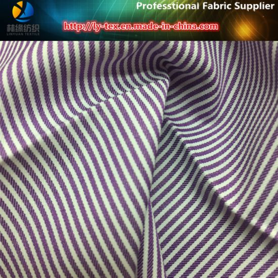 Newest T/C Yarn Dyed Stripe Woven Fabric for Shirt, Popular Twill Stripe Shirt Fabric pictures & photos