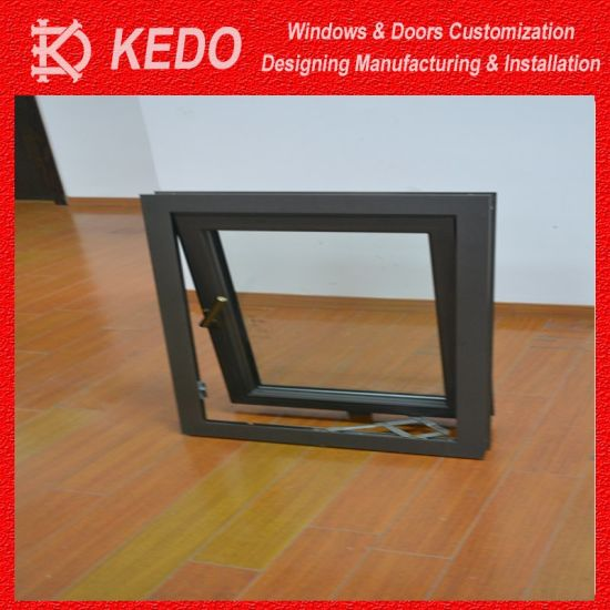 5mm Double Tempered Glass Casement Window Aluminum Profile pictures & photos