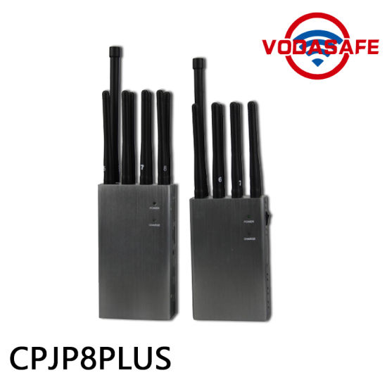 New 8 Antennas High Power Handheld 3G/ 315/ 433/ Lojack Jammer, Built-in Battery, Portable 2g 4G Lte GSM CDMA Cell Phone Signal Blocker pictures & photos