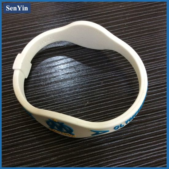 Personalized Cheap Custom Animal Print Silicone Bracelet No Minimum pictures & photos