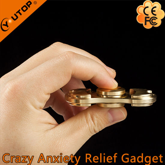 Factory Wholesale Promotion Gifts Copper Fidget Spinner pictures & photos