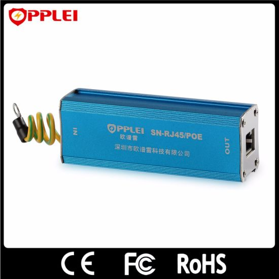Ethernet Power Supply Lightning Protector 1 Port Cat5 Surge Arrester