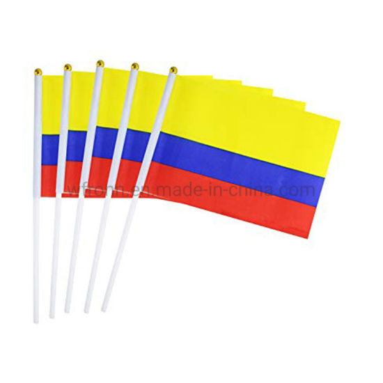 COLOMBIA REAR VIEW MIRROR WORLD FLAG CAR BANNER PENNANT
