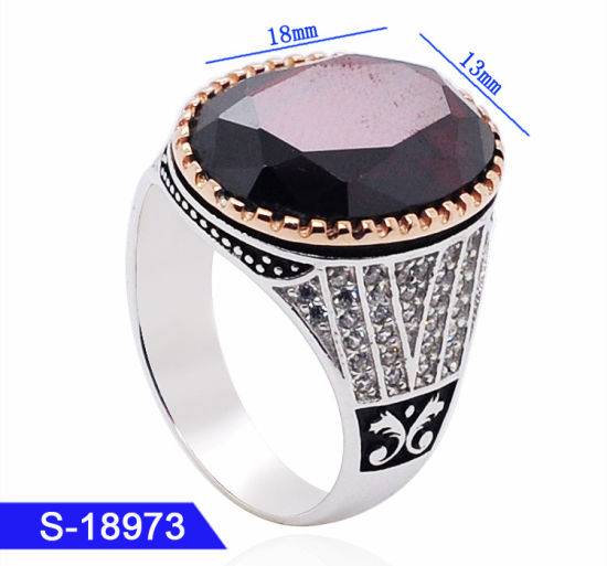 a4bae7b5784df New Model Muslim Jewelry Turkish   Arabic Style 925 Sterling Silver Islamic  Fashion Men Rings for