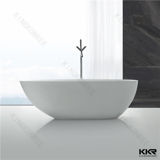 Merveilleux Rectangular Corner Bathtub Artificial Stone Bath Tub