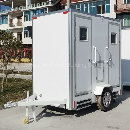 Fiberglass Mobile Trailer Toilet with Waste Tank. pictures & photos