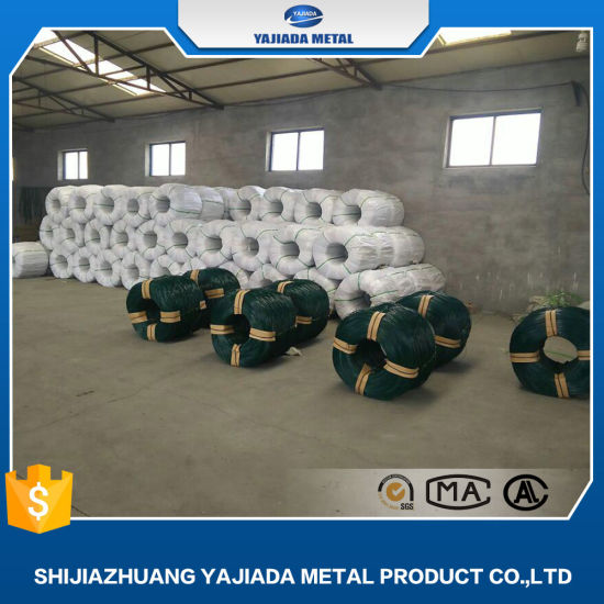 Green Color PVC Coated Iron Wire
