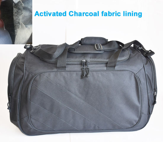 Odor Blocking Travel Duffel Sport Bags with Activated Charcoal Fabric Lining