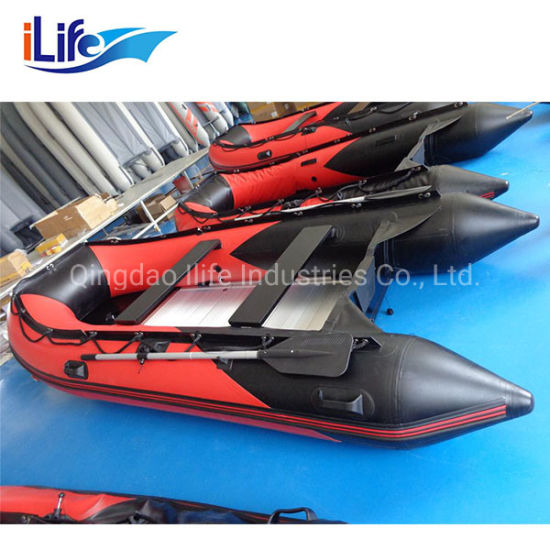 Ilife PVC/ Hypalon Foldable Inflatable Rubber Fishing Motor Sport Boats with Aluminim Floor/ Drop Stich Floor/ Plywood Floor