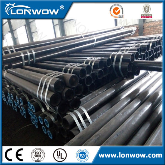 Q195/235/345 ERW Black Steel Pipe for Water Transmission pictures & photos