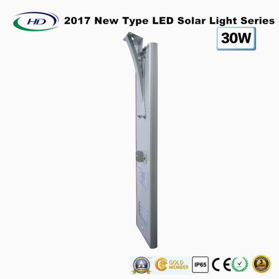 2018 New Type All-in-One Solar LED Garden Light 30W pictures & photos