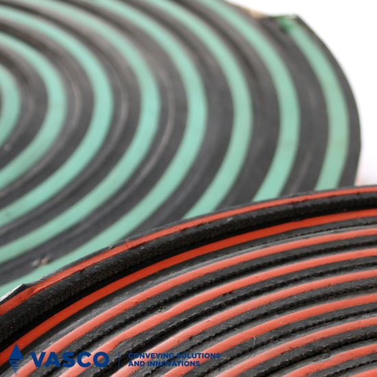 60 Shore A Black Rubber Sheets Conveyor Belt Wear Protection