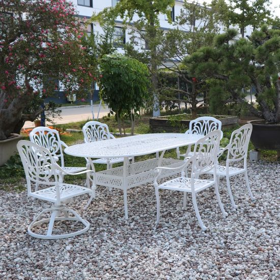 Prime China Cast Aluminum Black And White Color Table Chair Ibusinesslaw Wood Chair Design Ideas Ibusinesslaworg