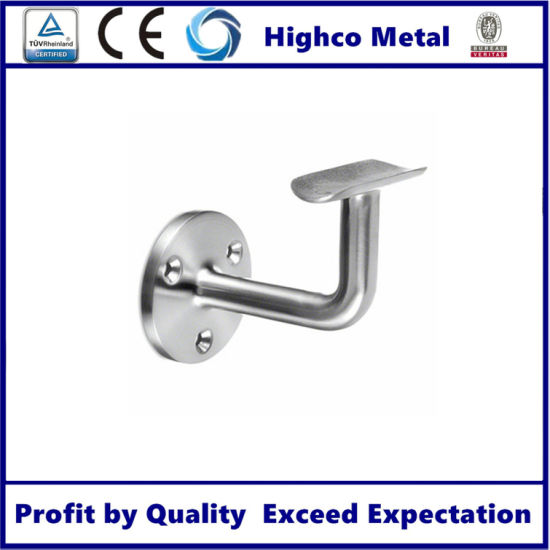 Wall Mounted Adjustable Bracket Holder Railing Handrail Stainless Steel Pipe Fitting