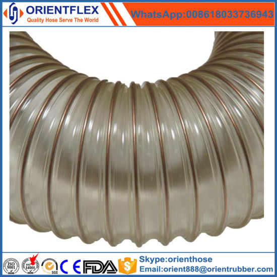China Flexible Spiral PU Wire Reinforced Dust Collection