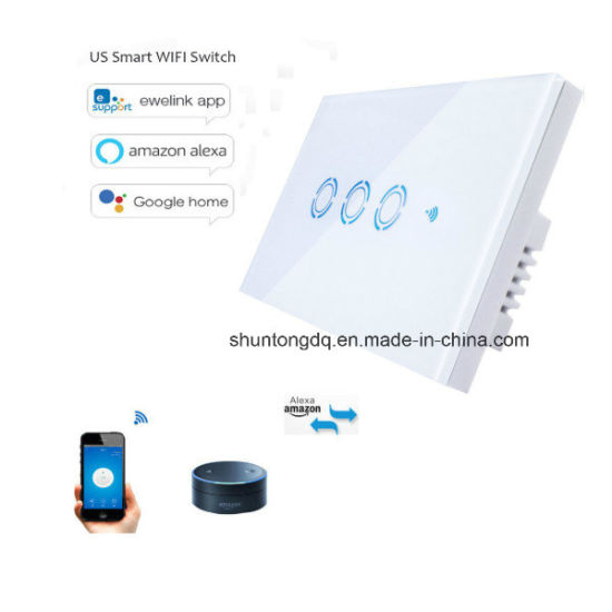 Us WiFi Wall Touch Switch 1 Gang 1 Way Wireless Remote Light Relay APP Control Work with Alexa Google Home