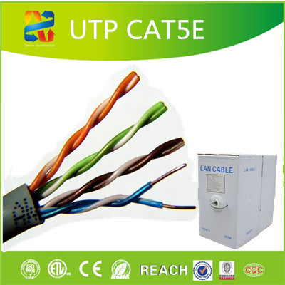 4pair 24AWG Fluke Passed UTP Cat5e LAN Cable pictures & photos