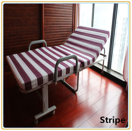 China Folding Bed Rollaway Guest Bed With Steel Frame Foam