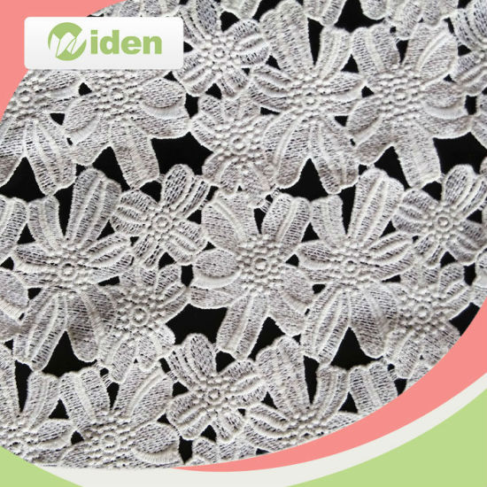 Chantilly Lace Fabric 100 % Polyester Chemical Lace Fabric pictures & photos