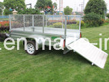 7X5 Galvanised Domestic Box Trailer / Farm Trailer with 600mm Cage pictures & photos