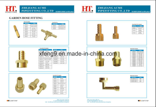 Brass Barb Adapter Hydraulic Hose Fitting Connector Fitting (I. D X O. D) pictures & photos