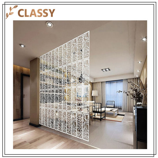 Different Pattern Decoration Stainless Steel Unfolded Display Screen