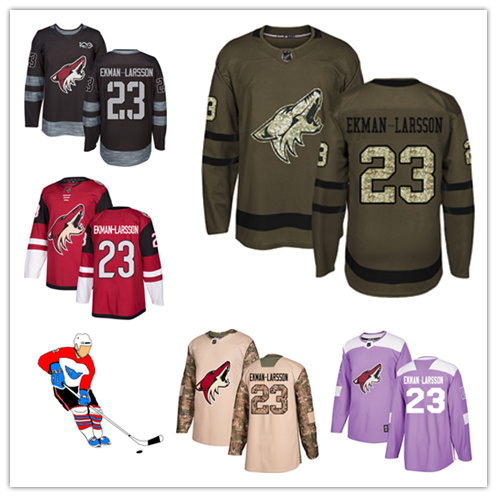 Men Women Youth Coyotes Jerseys 23 Oliver Ekman-Larsson Hockey Jerseys